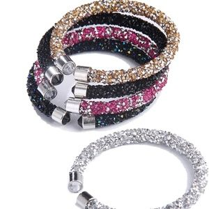 Jewelry - Crystal cutt braclets bangle arm candy